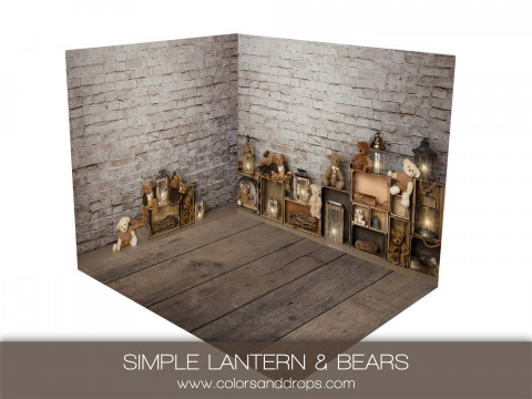 ROOM  - SIMPLE LANTERN & BEARS (sol ash)